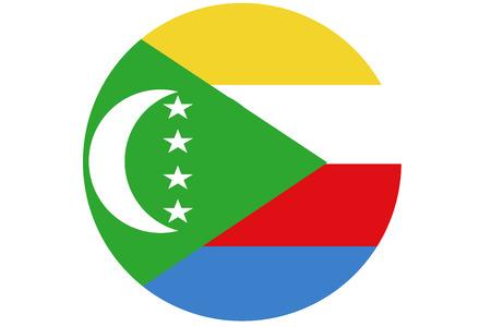 Comoros flag ,3D Comoros national flag illustration symbol. Stock Photo