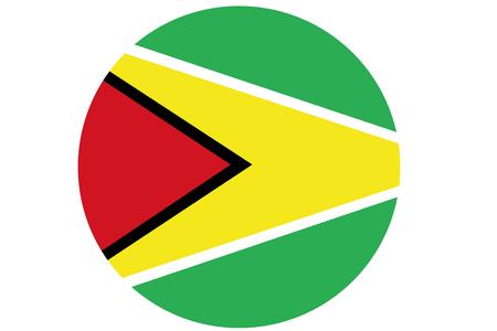 cooperativismo: bandera de Guyana, República Cooperativa de Guyana nacional de la ilustración de la bandera símbolo. Foto de archivo