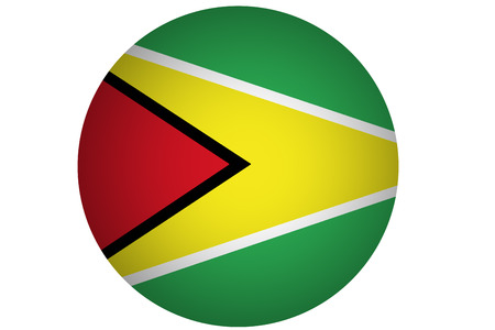 Guyana flag ,Cooperative Republic of Guyana national flag illustration symbol.
