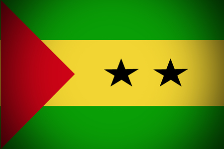 Sao Tome and Principe flag ,3D Sao Tome and Principe national flag illustration symbol.