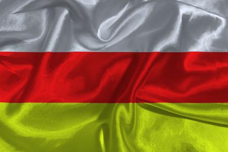 variant: South ossetia flag 3D illustration symbol