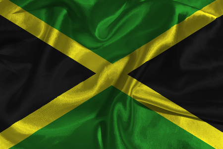 Jamaica national flag illustration symbol.