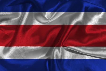 costa: Costa Rica flag 3D illustration symbol. Costa flag Stock Photo