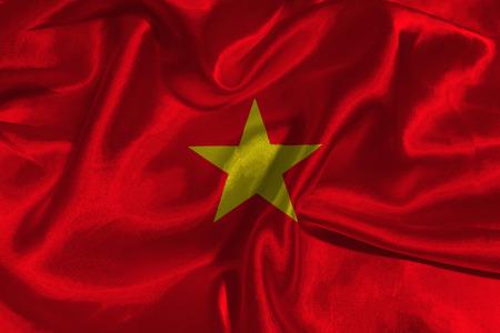 Vietnam flag ,Vietnam national flag 3D illustration symbol.