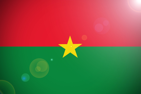 Burkina Faso flag ,Burkina Faso national flag 3D illustration symbol