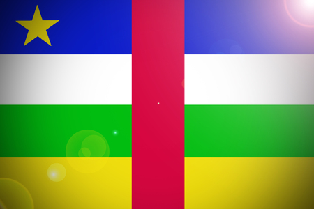 central african republic: Central African Republic flag 3D illustration symbol. Stock Photo