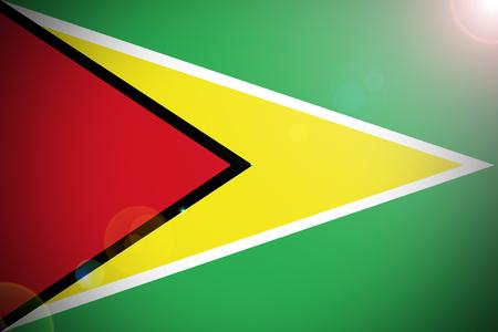 cooperativismo: bandera de Guyana, República Cooperativa de Guyana de la bandera nacional de ilustración 3D símbolo. Foto de archivo