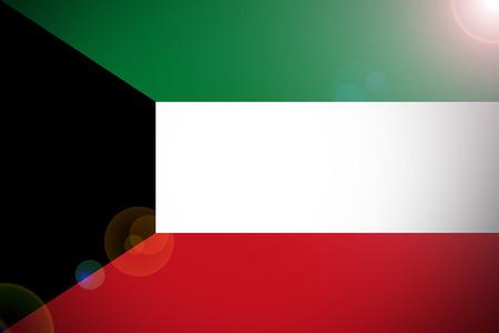 variant: Kuwait flag , Kuwait national flag 3D illustration symbol