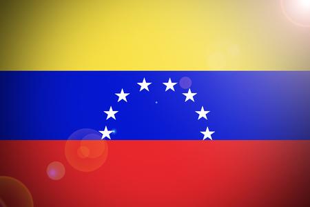 bandera de venezuela: Venezuela bandera, bandera nacional de Venezuela ilustración símbolo 3D Foto de archivo