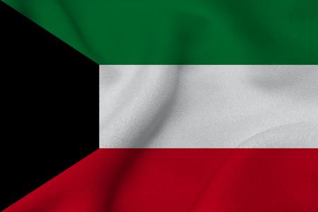 Kuwait flag , Kuwait national flag 3D illustration symbol