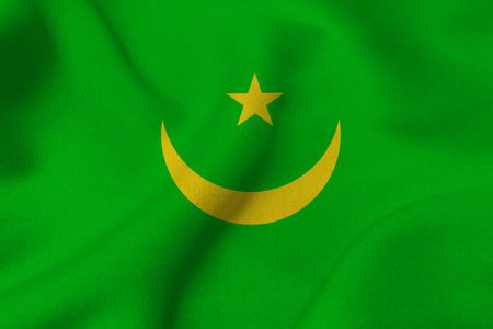 Mauritania national flag 3D illustration symbol. Mauritania flag