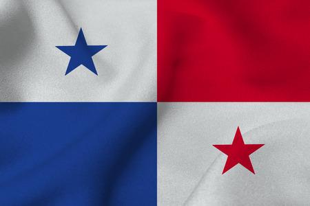 bandera de panama: bandera de Panamá ilustración 3D símbolo. bandera de Panamá