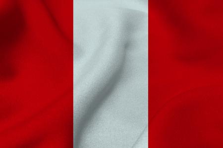 bandera de peru: Peru national flag 3D illustration symbol. Peru flag