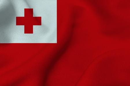 tonga: Tonga flag 3D illustration symbol