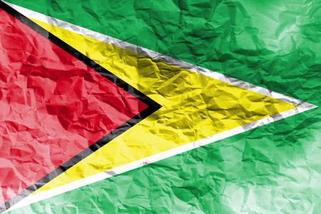 cooperativismo: Guyana flag ,Cooperative Republic of Guyana national flag 3D illustration symbol.