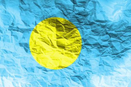 Palau flag ,Palau national flag 3D illustration symbol