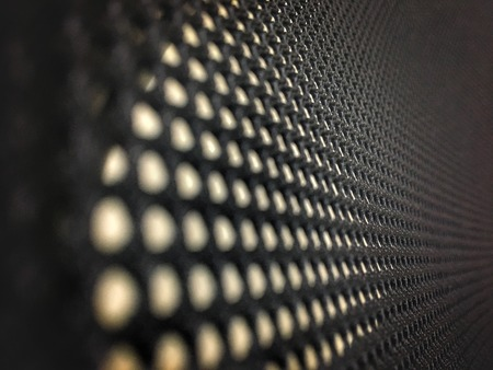 High resolution net concept perforated pattern texture mesh background Stock Photo