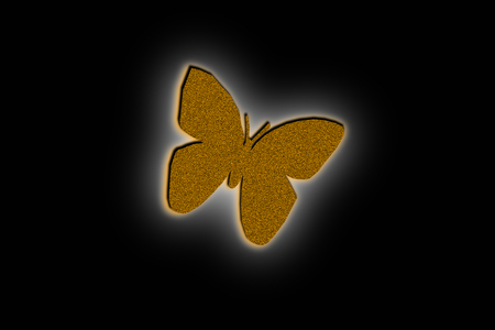 butterfly illustration design on the black background