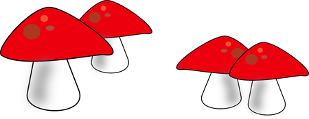 mushroom illustration drawing on the white background