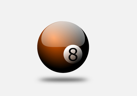 Snooker orange color on the white background ,billiard ball is triangle shape.