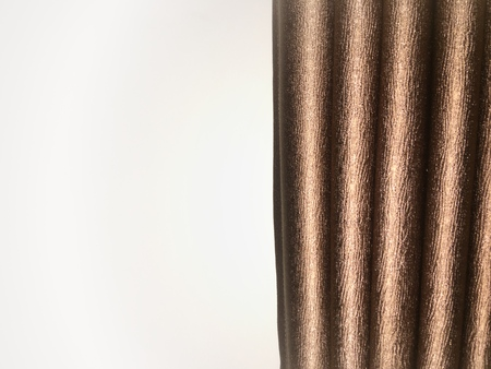 Brown curtain texture and background with wrinkle style.