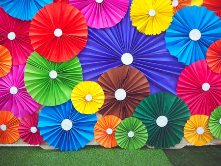 Multicolor of the umbrella paper texture and background