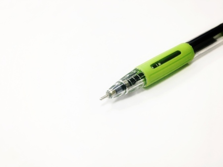Pen on the white background