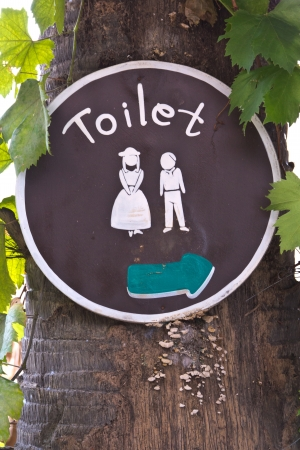 Toilet signs with Handmade  photo