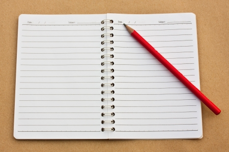 Pencil and notebook photo