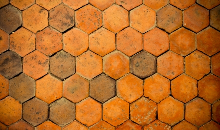 Terracotta floors.Surfaces walkways made ​​of clay. photo