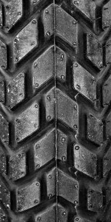 This motorcycle tire pattern mono tone  photo