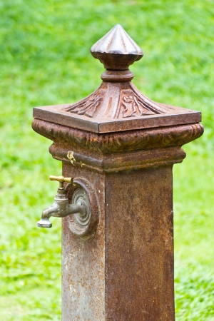 Ancient Decorative Garden Faucet Stock Photo, Picture And Royalty Free  Image. Image 22699352.