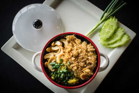 bleak: Fried rice with a side of bleak. Stock Photo