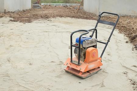 vibration machine: vibration plate compactor machine on construction area
