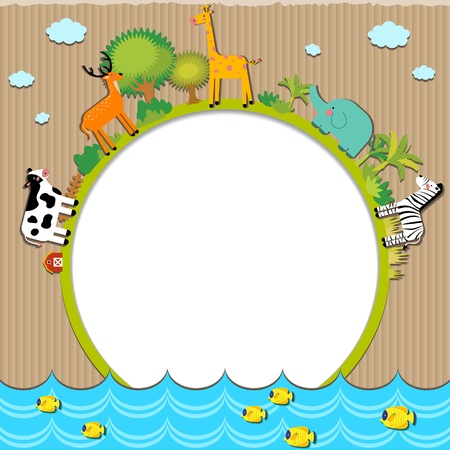 Animals cardboard Stock Vector - 21045242