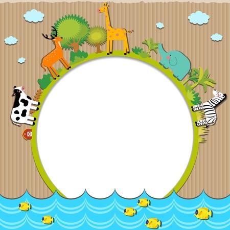 Animals cardboard