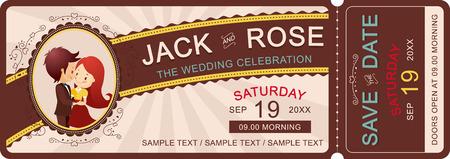 The wedding celebration ticket