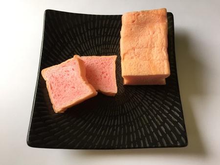 Pink sliced bread