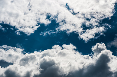 indicate: Bright blue sky with clouds indicate freshness.