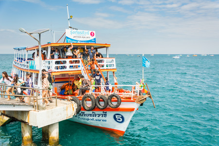 berth: This boat is from Pattaya beach come to Koh-Larn island (the sub island of Pattaya) with many nationality traveler. The looks of Thailand travel