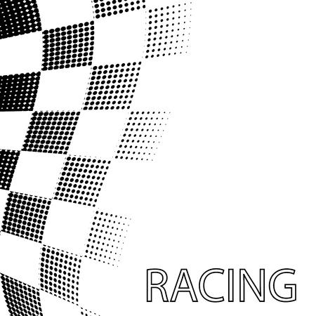 Racing vlag achtergrondontwerp. Vector illustratie.