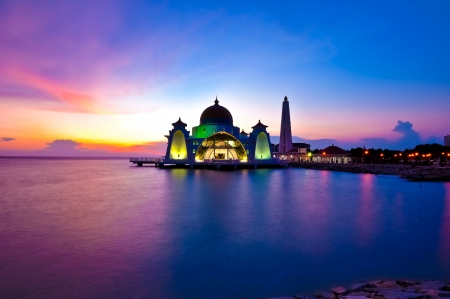 Masjid Selat Melaka Malajsie Reklamní fotografie