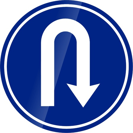 u turn: traffic signs Illustration