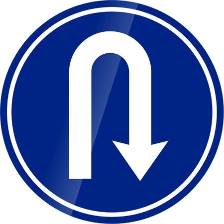 u turn sign: traffic signs Illustration