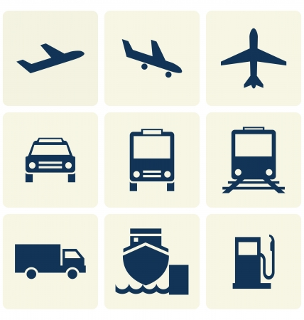 depart: transport icon transpency background Illustration