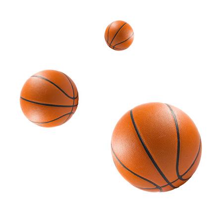 international basketball: Three Basketball balls over white background