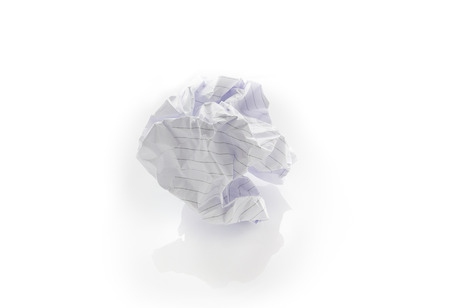 crinkly: close-up of crumpled paper ball Stock Photo