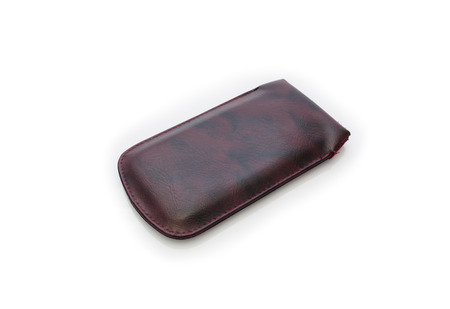 hdd: Brown leather case for your smart phone or HDD external