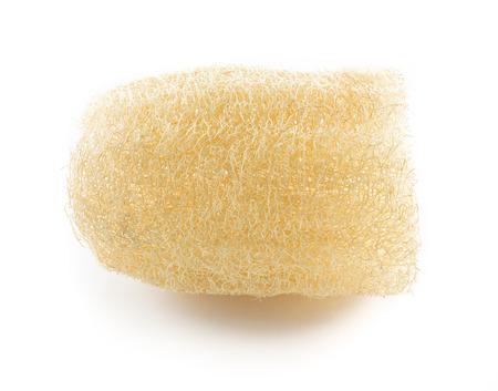 exfoliate: Loofah - natural vegetable fiber for body scrubbing Stock Photo