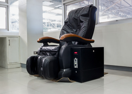 chair massage: Leather Massage Chair Vending Machine